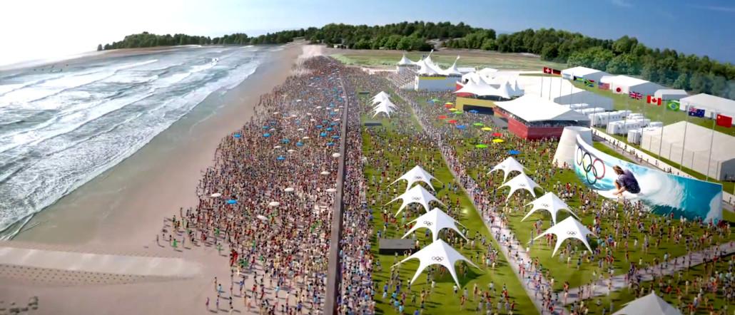 Surfing er blevet en Olympisk sportsgren og skal afvikles for første gang ved OL i Tokyo 2020. Foto: OL promotion video.