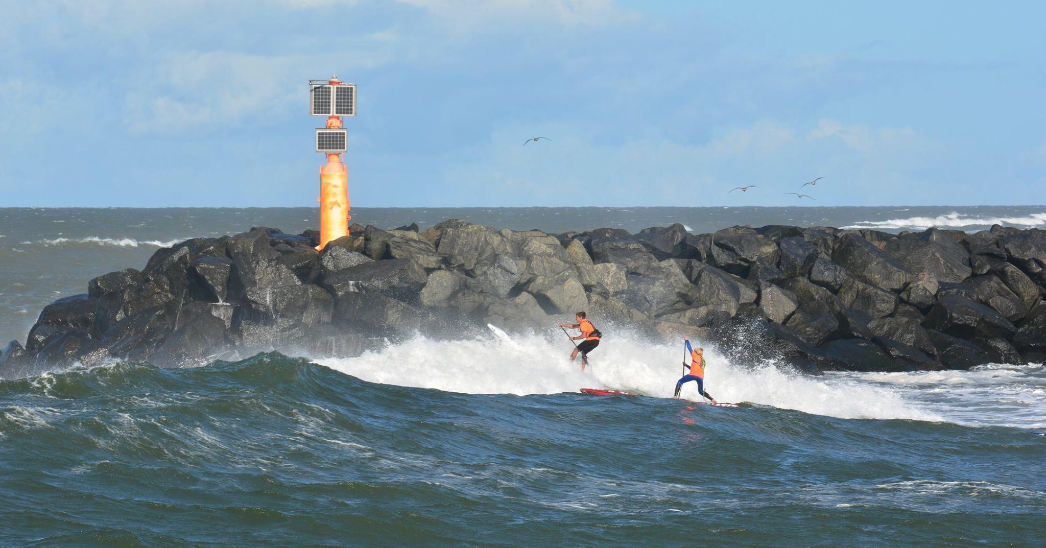 Billede fra søndagens WaterZ SUP Race, hvor vejr forholdende også var til at føle på. /Foto: Kristian Rønn Lauritsen