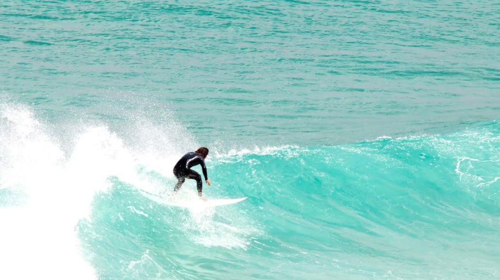 Surf ved kystbyen Sidi Kaouki
